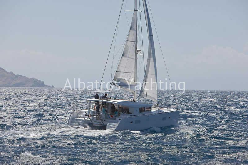 Lagoon 400 is one the most popular catamaran to charter . - Albatros